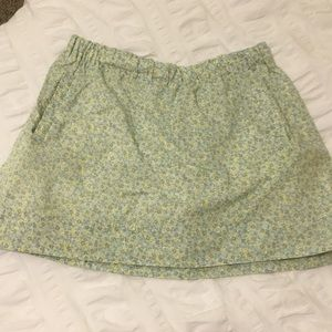 J. Crew Printed Floral Skirt w/ Pockets